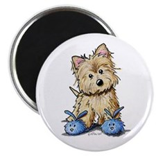 """Bunny Slippers Cairn 2.25"""" Magnet (100 pack)"""