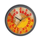 It's Always Beer O'Clock Wall Clock