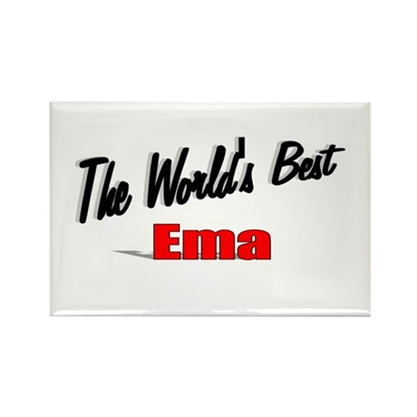 """The World's Best Ema"" Rectangle Magnet"