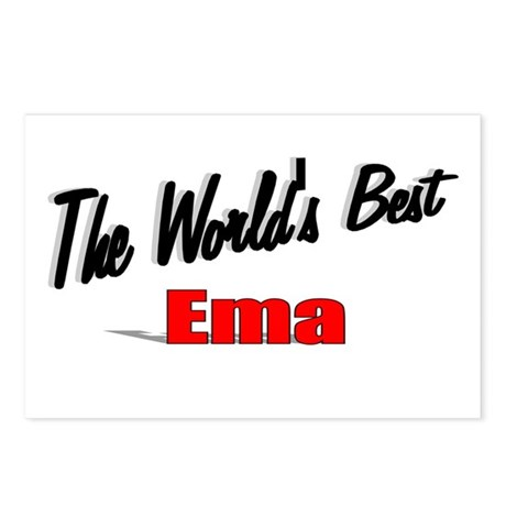 """The World's Best Ema"" Postcards (Package of 8)"