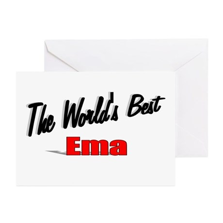 """The World's Best Ema"" Greeting Cards (Pk of 10)"