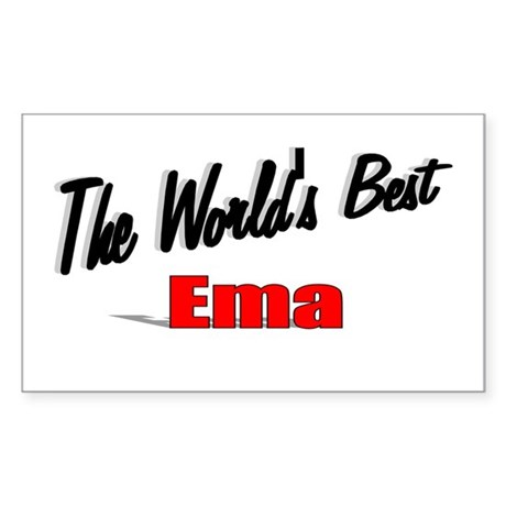 """The World's Best Ema"" Rectangle Sticker"