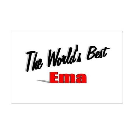 """The World's Best Ema"" Mini Poster Print"