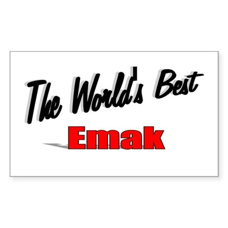 """The World's Best Emak"" Rectangle Sticker"