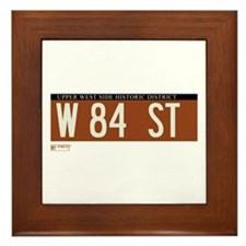 84th Street in NY Framed Tile
