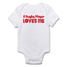 A Rugby Player Loves Me Infant Bodysuit