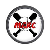 Marc Baseball Wall Clock
