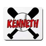 Kenneth Baseball Mousepad