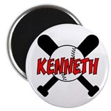 "Kenneth Baseball 2.25"" Magnet (10 pack)"