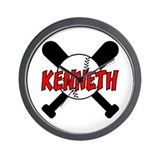 Kenneth Baseball Wall Clock