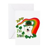 St Patrick's Day Westie Greeting Card