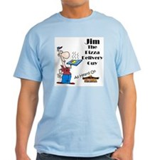 Jim The Pizza Delivery Guy T-shirt Blue