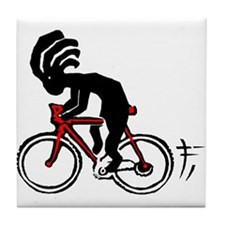 Kokopelli Bicycle Tile Coaster