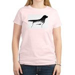 Cave Dog Labrador Retriever Women's Pink T-Shirt