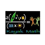 kayak math blackboard Rectangle Magnet (10 pack)