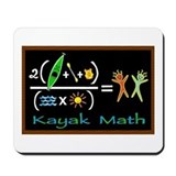 kayak math blackboard Mousepad
