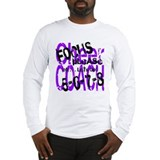 Focus Please - purple/black Long Sleeve T-Shirt