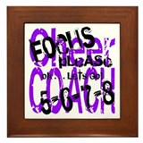 Focus Please - purple/black Framed Tile