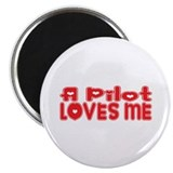 "A Pilot Loves Me 2.25"" Magnet (10 pack)"