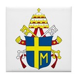 Pope John Paul II Coat of Arm Tile Coaster
