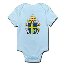 Pope John Paul II Coat of Arm Infant Creeper