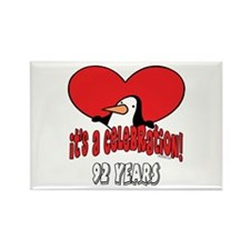 92nd Celebration Rectangle Magnet