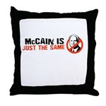 Anti-McCain Throw Pillow