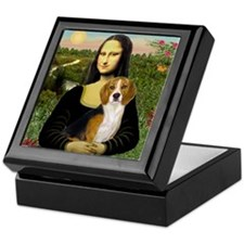 Mona Lisa & Beagle Keepsake Box