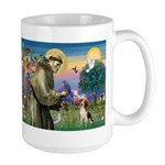 Saint Francis / Beagle Large Mug