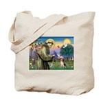 Saint Francis / Beagle Tote Bag