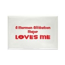 A Mormon Affiliation Major Loves Me Rectangle Magn