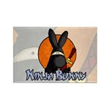 Ninja Bunny Rectangle Magnet