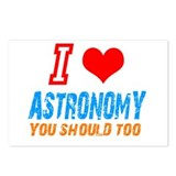 I love astronomy Postcards (Package of 8)