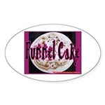 Funnel Cake Oval Sticker