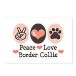 Peace Love Border Collie Postcards (Package of 8)