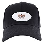 Peace Love Border Collie Black Cap