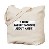 Hailie (impure thoughts} Tote Bag