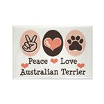 Peace Love Australian Terrier Rectangle Magnet (10