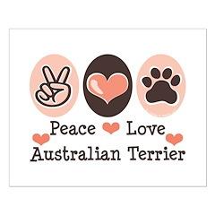 Peace Love Australian Terrier Posters