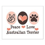 Peace Love Australian Terrier Small Poster