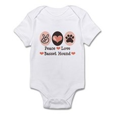 Peace Love Basset Hound Infant Bodysuit
