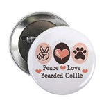 Peace Love Bearded Collie 2.25