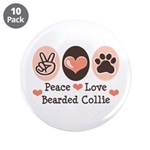 Peace Love Bearded Collie 3.5