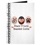 Peace Love Bearded Collie Journal