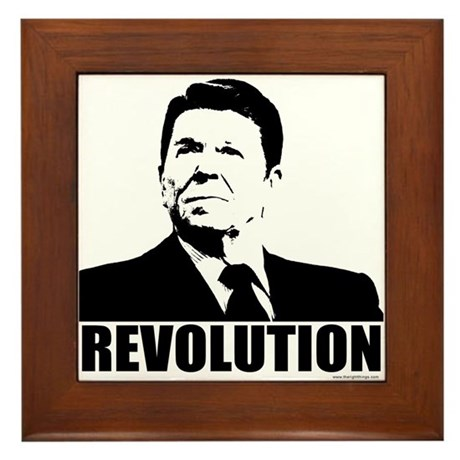 Reagan Revolution Framed Tile