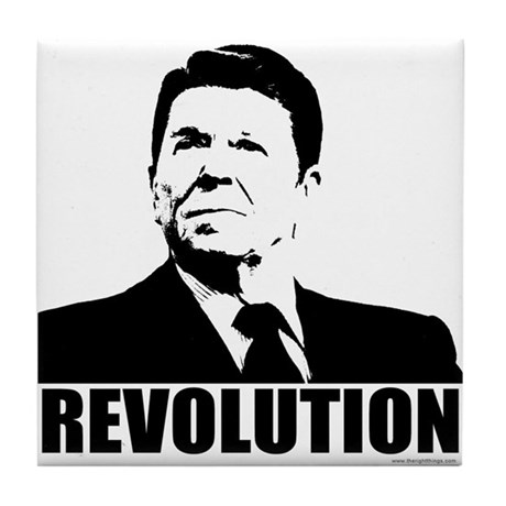 Reagan Revolution Tile Coaster
