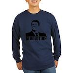 Reagan Revolution Long Sleeve Dark T-Shirt