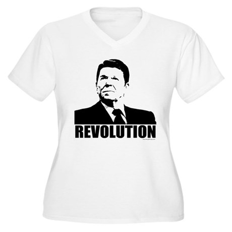Reagan Revolution Women's Plus Size V-Neck T-Shirt