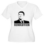 Reagan Revolution Women's Plus Size V-Neck T-Shirt