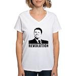 Reagan Revolution Women's V-Neck T-Shirt